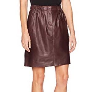 NWT Halston Heritage leather skirt